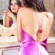 Lady looks in a mirror — Stock Photo #2921414