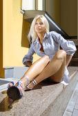 Sexy blonde executive secretary — Stock Photo