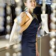 Lady in the boutique — Stock Photo