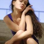 Portrait of sexy city woman — Stock Photo