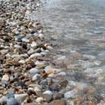 Pebbly shore of red sea — Stock Photo