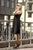 Rich city woman — Stock Photo