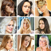 Faces of women — Stock Photo