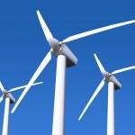 青い空に風力タービン — ストック写真