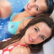 Royalty-Free Stock Photo: Young girls in jacuzzi