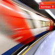 Stock Photo: High-speed train in subway