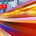 High speed metro train — Stock Photo