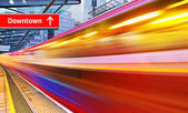 High speed metro train — Stock Photo
