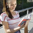 Student with book — Stockfoto