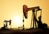 Oil pumps — Stock Photo