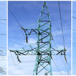 High-tension power line - Foto Stock