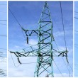 Stock Photo: High-tension power line
