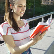 The student with book — Stockfoto