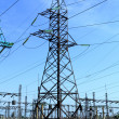 Stock Photo: High tension power line