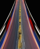 Fast-speed highway of city — Stock Photo