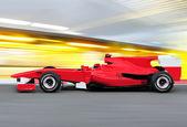 формула один гоночный автомобиль на скорости трек — Стоковое фото