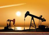 Bombas de óleo de trabalho — Foto Stock