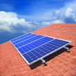 Solar panels on the roof - Foto Stock