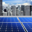Solar panels on modern roof - Foto Stock