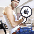 Man in gym - Foto Stock