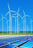环境无害的风力涡轮机 — 图库照片