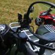 Red quad bike in rear view mirror — Stock Photo #3059157