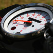 Close up of a bike speed meter — Stock Photo
