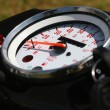 Stock Photo: Close up of bike speed meter