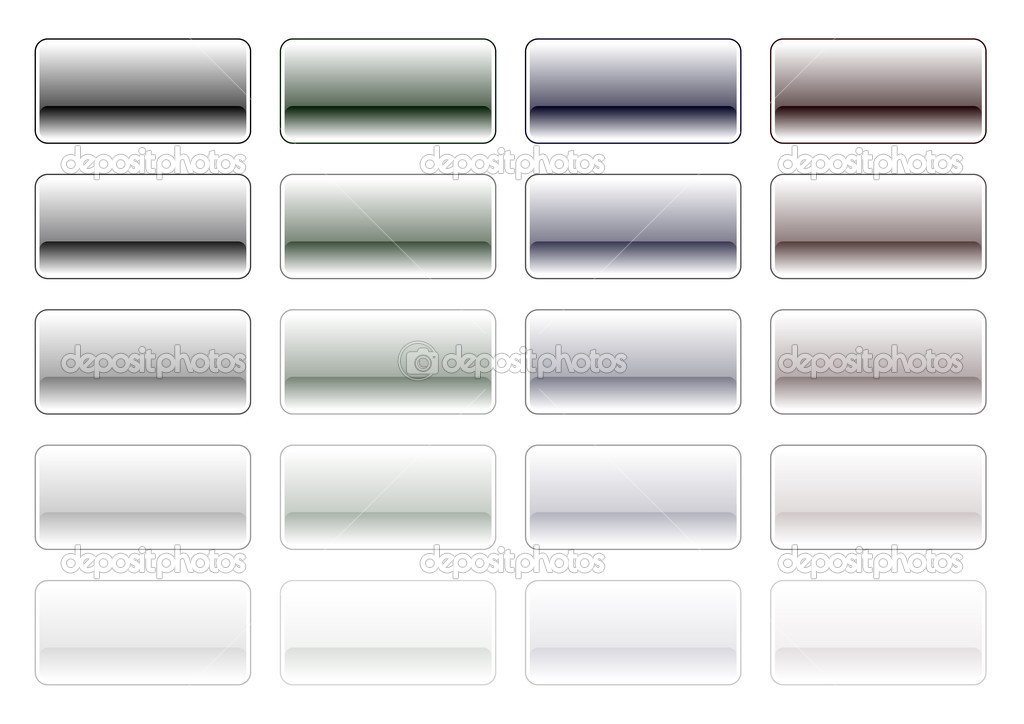 Glossy buttons in grey color — Stock Vector #2766969