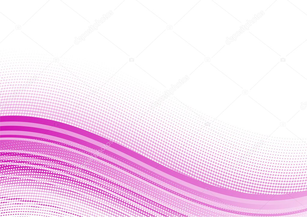 Pink wavy background with halftone — Stock Vector #2916628