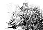 Dark moth — Stock Vector
