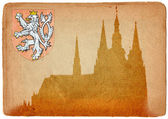 Prague castle and Cathedral of St Vitus — Stock Photo