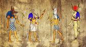 ägyptische götter und göttin — Stockfoto