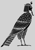 Egipski demona - ptak dusz — Wektor stockowy