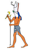 God of Ancient Egypt - Horus — Stock Vector