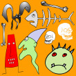 Various Halloween elements - vector — Stock Vector