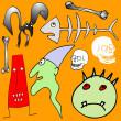 Various Halloween elements - vector — Stock Vector #3757437