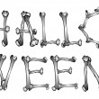 Royalty-Free Stock Immagine Vettoriale: Halloween text