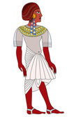 Woman of Ancient Egypt - vector — Stock Vector