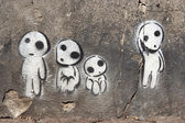 Family of aliens — Stock Photo