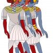 Stock Vector: Women of ancient Egypt - vector