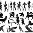 Stock vektor: Various themes of ancient Egypt - vector
