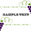 Vector label pattern with grapes — Stock Vector