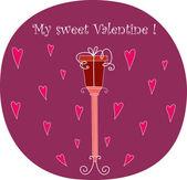 Carte de valentine vecteur — Vecteur