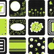 Set of vector card pattern — Stock Vector #2697718