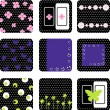 Set of vector card pattern — Stock Vector