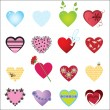 Vector hearts — Stock Vector #2713986
