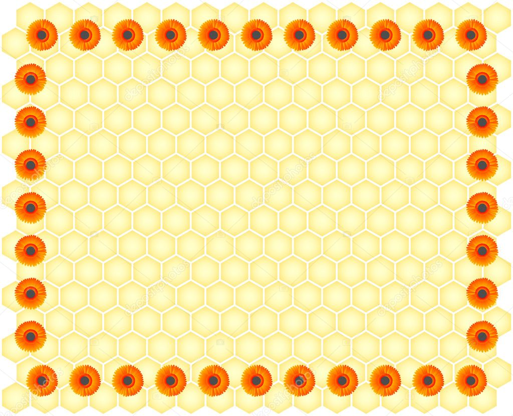 Vector honeycomb background — Stock Vector #2719906