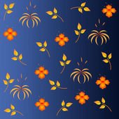 Seamless pattern with flowers. Vector — Stock Vector