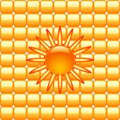 Streszczenie tło słońce — Wektor stockowy